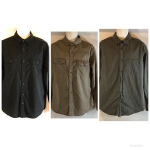 Lot 3 old Navy Men's L button up Shirts